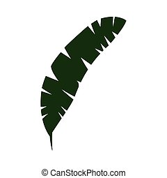 leaf palm tropical foliage icon vector illustration design