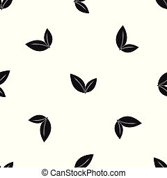 Leaf pattern seamless black
