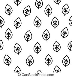 Leaf seamless vector pattern