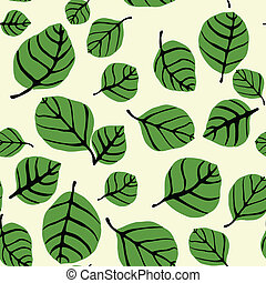 Leaf Shapes Seamless Pattern