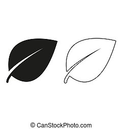 Leaf sign - green vector icon