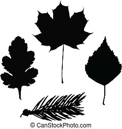 leaf silhouette vector