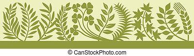 leaf silhouettes