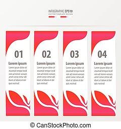 leaf style banner design pink color