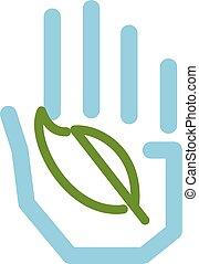 leaf., tenendo mano
