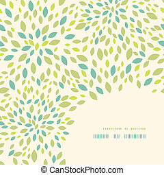 Leaf texture corner decor pattern background - Vector leaf...