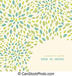 Leaf texture corner decor pattern background