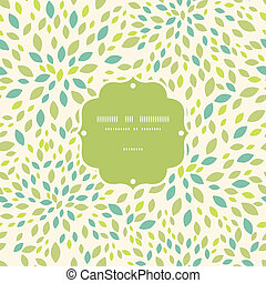 Leaf texture frame seamless pattern background