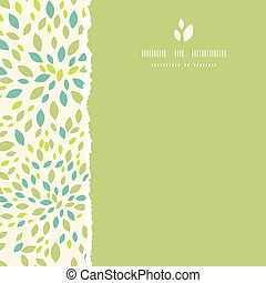 Leaf texture square torn frame seamless pattern background...