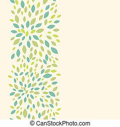 Leaf texture vertical seamless pattern background border