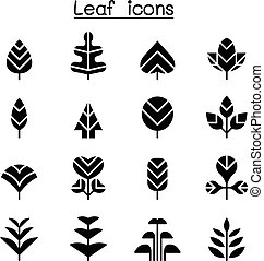 Leaf & Tree icon set