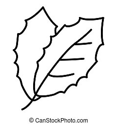 Leaf vector icon isolated on white. Leaf icon outline design. Eps 10
