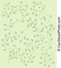 Leaf Vine Patter - Pattern of tiny leaves on a delicate vine...