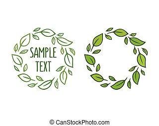 Leaf wreath drawing