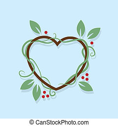 Leaf Wreath Heart