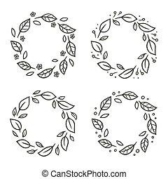 Leaf wreath set