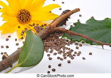 leafes, bois, biopolymer