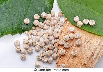 leafes, holz, biopolymer