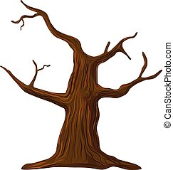 Leafless dead tree vector - Vector illustration of leafless ...