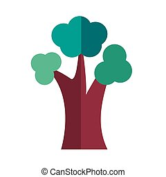 leafless tree plant flat style icon vector illustration ...