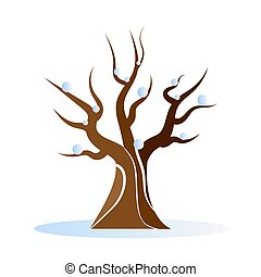 leafless winter tree - Leafless winter tree, vector art ...