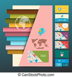 Leaflet and Business Cards Set. Vector Company Print Layout.