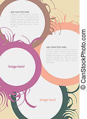 Leaflet design - Editable Leaflet template design .