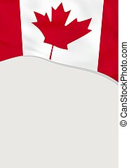 Leaflet design with flag of Canada. Vector template.