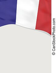 Leaflet design with flag of France. Vector template.