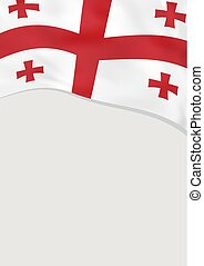Leaflet design with flag of Georgia. Vector template.