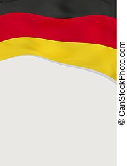 Leaflet design with flag of Germany. Vector template.