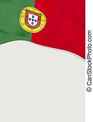 Leaflet design with flag of Portugal. Vector template.