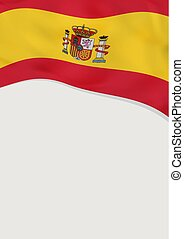 Leaflet design with flag of Spain. Vector template.