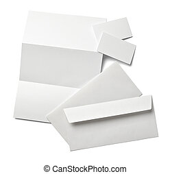 leaflet letter business card white blank paper template - ...