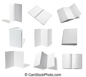 leaflet notebook textbook white bla