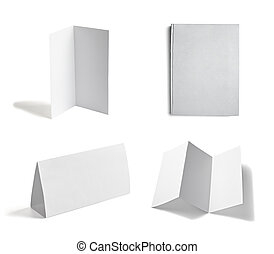 leaflet notebook textbook white blank paper template - ...