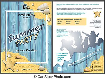 Leaflet Template Summer Party