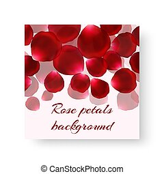 Leaflet template with red petals