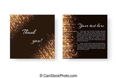 Leaflet with flashes of golden light - A leaflet template...