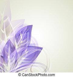 leafs, 紫色, 型, 抽象的なデザイン, 背景