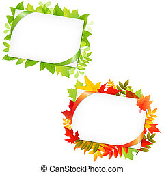Leafs And Blank Gift Tag