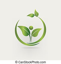 Leafs health nature branding logo