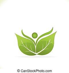 Leafs health nature logo