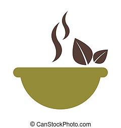 leafs healthy food menu icon