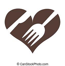 leafs healthy heart food menu icon