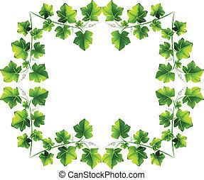 Leafy border design - Illustration of the leafy border...