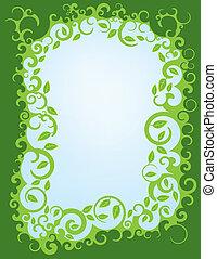 Leafy Green Swirl Border