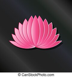 Leafy Pink Lotus plant logo
