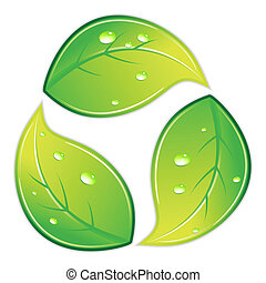 Leafy Recycle Symbol