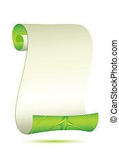 Leafy Scroll - illustration of scroll letter in leafy form...